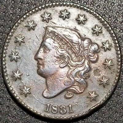 1831 Coronet/Matron Head Large Cent N-9 R-2 Very Nice Coin For Your Collection