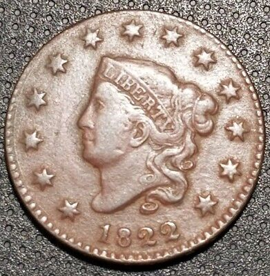1822 Coronet/Matron Head Large Cent N-6 R-3 Very Nice Coin For Your Collection