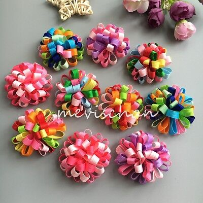 New puppy ball Boutique flower dog hair bow clips/rubber bands pet hairpins