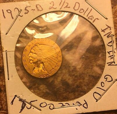 1925-D Quarter Eagle Indian  $2.50 Gold Piece. Really Great Maybe Uncirculated