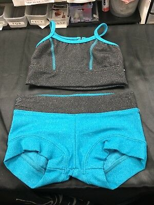 2 piece set bra top and booty short size child small