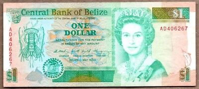 Belize VF Note 1 Dollar May 1990 P-51