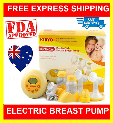 Double Core Electric Dual Breast PumpFeeding Baby Milk Pump with LCD Display