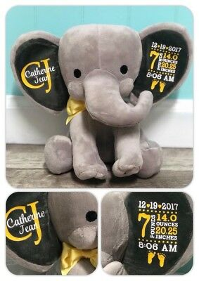 *PERSONALIZED Elephant Birth Announcement