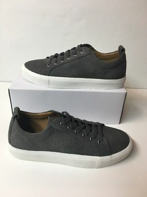 f69eb210b2a NEW MADDEN Juror Gray Lace Up Perforated Suede Sneakers Shoes Men s Size ...
