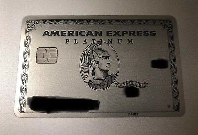 Rare Authentic American Express Platinum Card Used Expired Metal