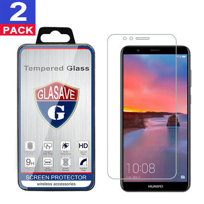 (2 Pack) GLASAVE Tempered Glass Screen Protector For Huawei Mate SE