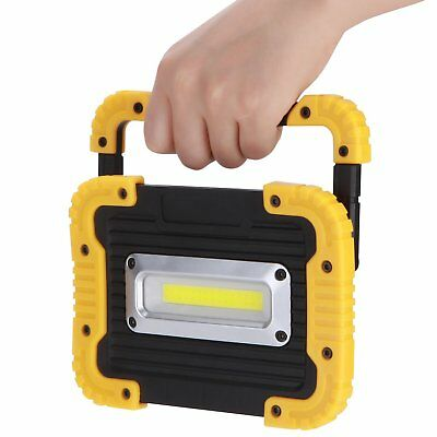 New 30W COB LED Cordless Thin Portable Work Site Flood Light Camping Waterproof