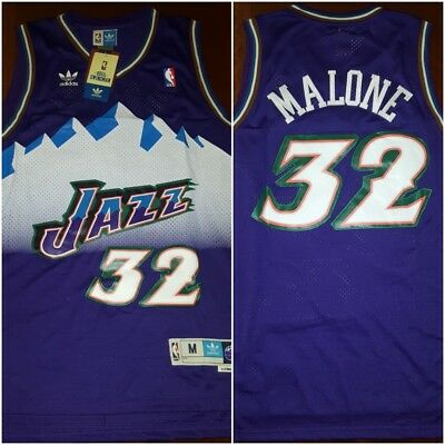 low priced eb599 b029a RETRO UTAH JAZZ Karl Malone #32 Purple Throwback Basketball Jersey Mens  MEDIUM