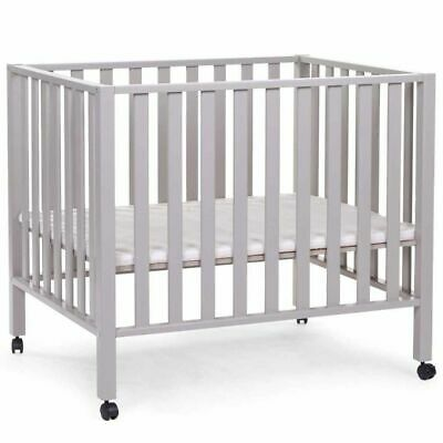 CHILDWOOD Playpen Beech Stone Grey Baby Child Wheeled Play Pens Safety PA94SG