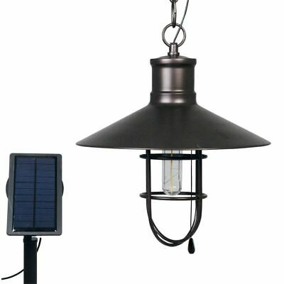 Luxbright Solar LED Garden Light Caledon Dark Bronze Patio Hanging Lamp 34112