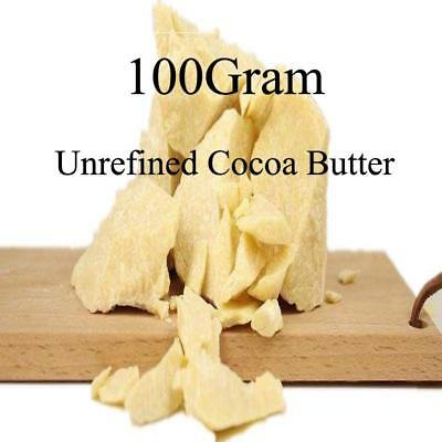 Raw Cocoa Butter Unrefined Organic Natural 100G Pure Grade A Skin Handmade
