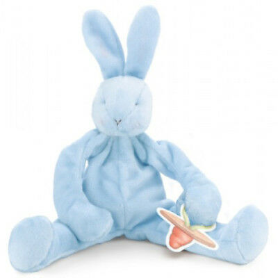 NEW Bunnies by the Bay Bud's Silly Buddy Blue Bunny Dummy Pacifier Holder Baby