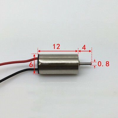 612 6mm*12mm DC 3.7V 49000RPM High Speed Mini RC Drone Quadcopter Coreless Motor