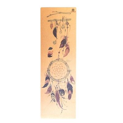 Cork Yoga Mat Dreamcatcher design  Eco Friendly Non Slip for Yoga Pilates