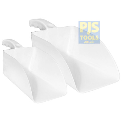 Plastic hand scoop for feed, ice, parts, food etc Small 0.68lt or Large 2.36lt