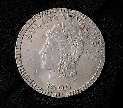 RARE 1896 Bryan So Called Dollar, Aluminum, SCARCE