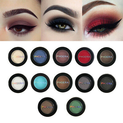 PHOERA Natural Matte Eye Shadow Waterproof Palette 12Colors Pigment Eyeshadow FY