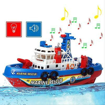 Electric Fire Boat Baby Kids Children LED Flashing Light Music Birth Toy Gift