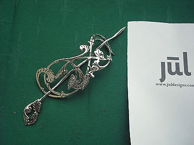 JUL Designs Passion Flower Shawl Pin