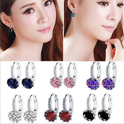 Women's Rhinestone Crystal Ear Stud Drop Dangle Earrings Party Fashion Jewelry