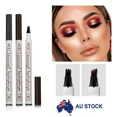 Eyebrow Tattoo Pen Waterproof Fork Tip Microblading Waterproof Makeup Sketch AU