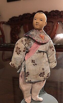 """Vintage Antique Door Of Hope Chinese Asian Boy Doll Approx. 7"""""""