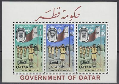 Qatar 1966 ** Bl.9 A new currency surcharge, Pfadfinder Scouts Scouting