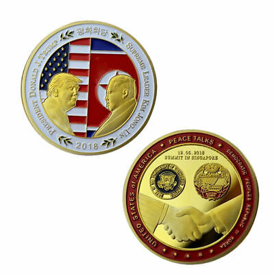 2018 American Peace Talk Commemorative Coin Collection Souvenir Gift Art Golden