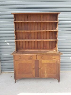 Stunning Solid pine kitchen buffet hutch hall table wooden frame.