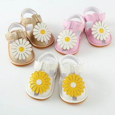 Baby Anti-Slip Soft Sole Leather Shoes Toddler Girl Newborn Moccasin Sandals AU