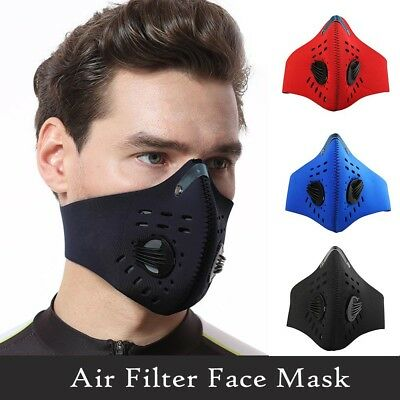 Cycling Bicycle Skate Anti-pollution Mask Sport DustProof Air Filter Face Mask