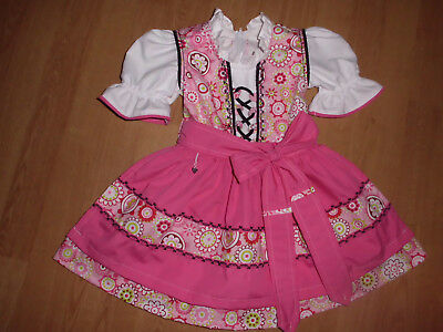 "NEU  Kinder Dirndl  gr. 74/80      ""MADE WITH LOVE"""