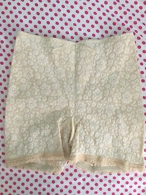 Vintage Lily Of France Lace Panty Girdle With Garters