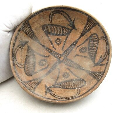 Indus Valley Terracotta Bowl W/ Deer Motif - Rare Ancient Artifact Lovely - L583