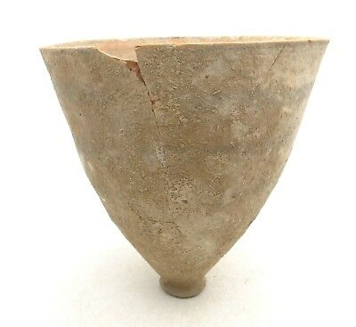 Indus Valley Terracotta Cup W/ Geometric - Ancient Rare Artifact Lovely - L584