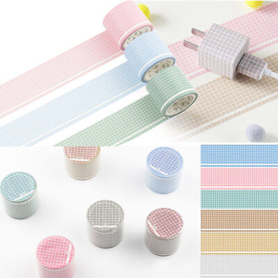 35mm*5m Grid Washi Tape DIY Paper Scrapbooking Sticker Masking Tape Decoration
