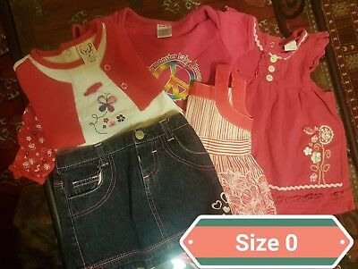 baby girl clothes size 0