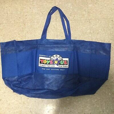 New Toys R Us Times square Inside Store Shopping Bag Blue Jumbo Size Geoffrey