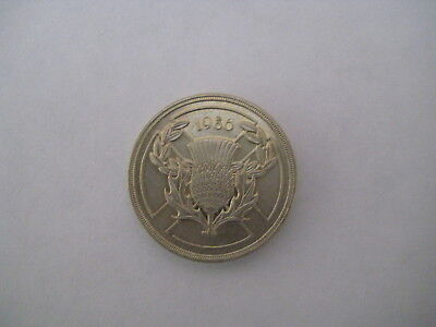 Great Britain (UK) 1986 Scottish Commonwealth 2 pound £2 Coin