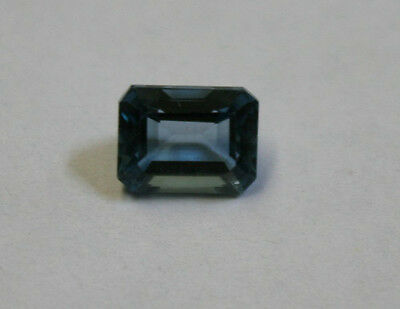 NATURAL TOPAZ 7X9mm LONDON BLUE GEMSTONE FACETED OCTAGON 2.8CT MINERAL TZ29D