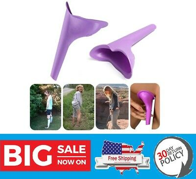 Female Urinal Device Reusable Silicone Portable Funnel Women Travel Camping Pee