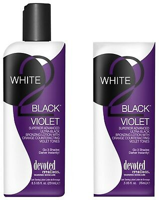Devoted Creations WHITE 2 BLACK VIOLET Superior Advanced Ultra-Black Bronzer