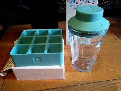 Nespresso Iced Coffee Kit Silicone Ice Tray And Glass New