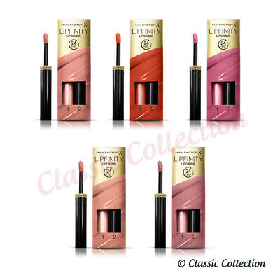 Max Factor Lipfinity Long Lasting Lip Colour in Various Shades *NEW & BOXED*