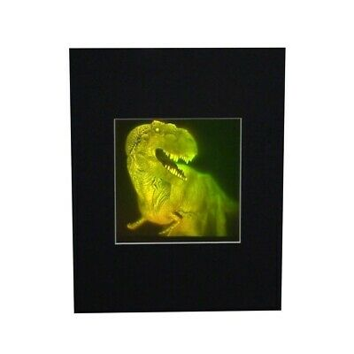 3D T-Rex Large 2-Channel Hologram Picture MATTED, Photopolymer Type Film