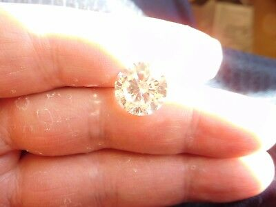 Fiery 6.91 ct White I - J Color Round Loose Moissanite VVS2 12.86 mm