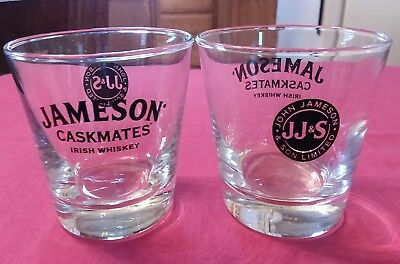 Set of (2) JJ&S Limited Jameson Caskmates Irish Whiskey Low Ball Glasses