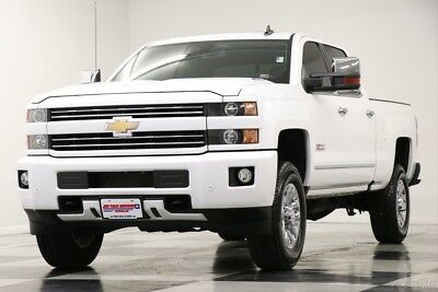 Chevrolet Silverado 3500 HD 4X4 LTZ Z71 Diesel Sunroof GPS Summit White Crew 4WD GM Certified Used 3500HD Navigation Heated Cooled Leather Camera 17 2017 18 16
