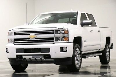 Chevrolet Silverado 2500 HD 4X4 High Country Diesel Sunroof White Crew 4WD GM Certified 2500HD Duramax Used Heated Cooled Leather GPS Cab 16 17 2016 15